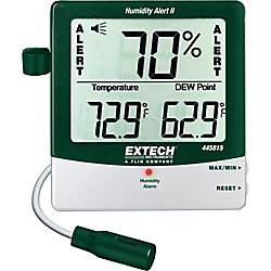 Extech Instruments Hydro-Thermometer Humidity Alert with Dew Point and Probe