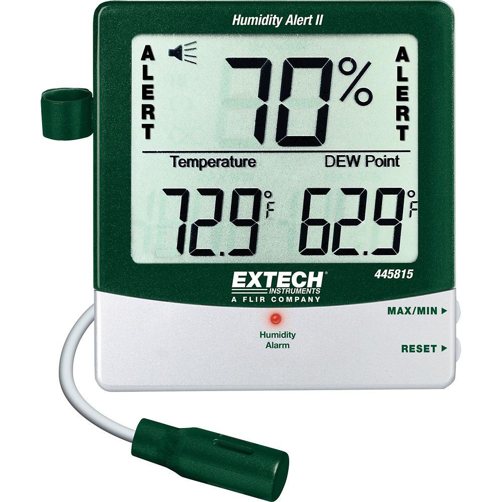 Hygro-thermomètre avertisseur d'humidité avec point de rosée