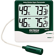 Big Digit Indoor/Outdoor Hydro-Thermometer