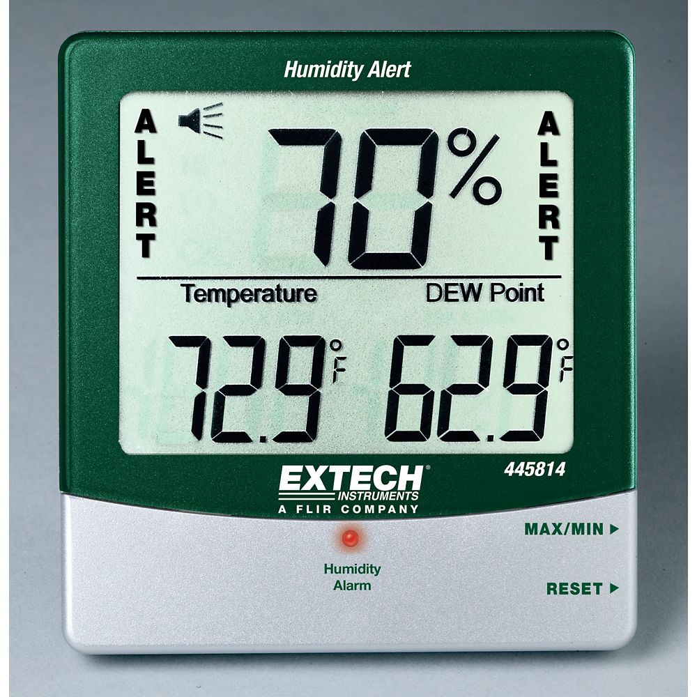 Hydro-Thermometer Humidity Alert With Dew Point
