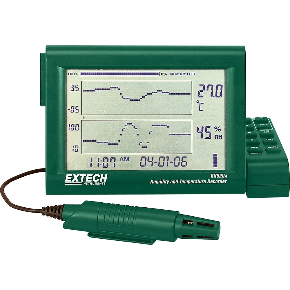 Humidity+Temperature Chart Recorder With Detachable Probe
