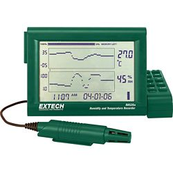 Extech Instruments Humidity+Temperature Chart Recorder With Detachable Probe