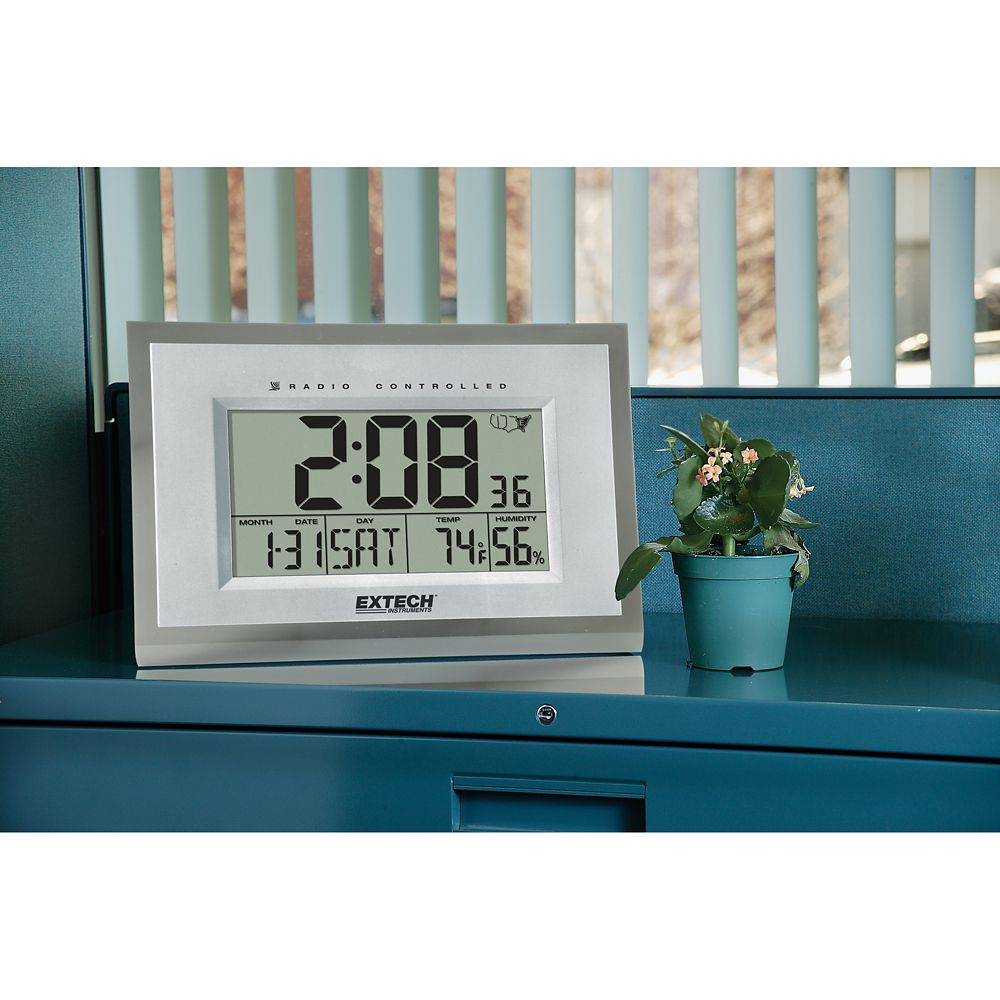 Extech Instruments Hydro-Thermometer Alarm Clock