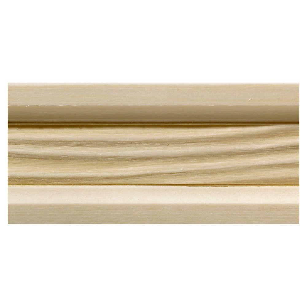 Ornamental Mouldings White Hardwood Wave Small Chair Rail