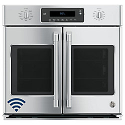 GE 30-inch Single Electric Wall Oven Self-Cleaning with Convection in Stainless Steel