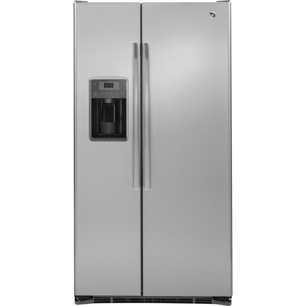 21.9 cu. ft. Side-by-Side Refrigerator with Dispenser in Stainless Steel