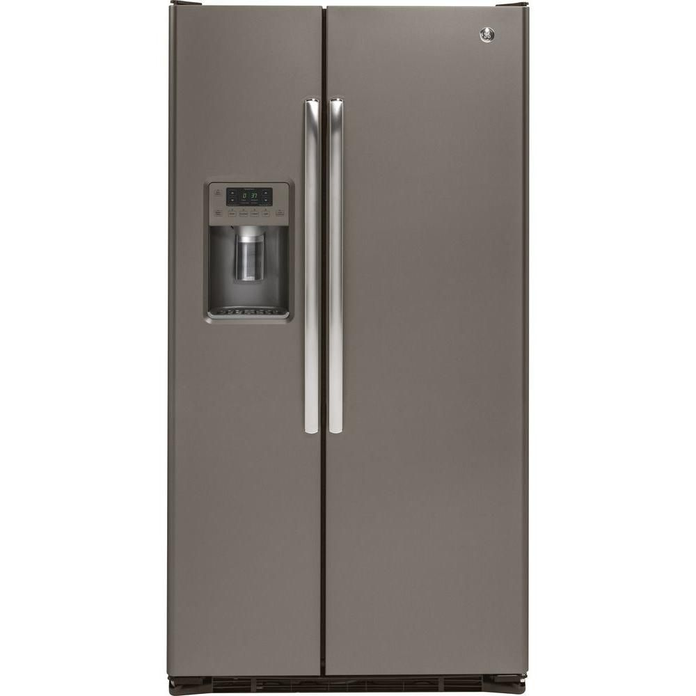 21.9 cu. ft. Side-by-Side Refrigerator with Dispenser in Slate