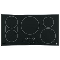 36-Inch W Electric Cooktop with 5 Elements in Stainless Steel
