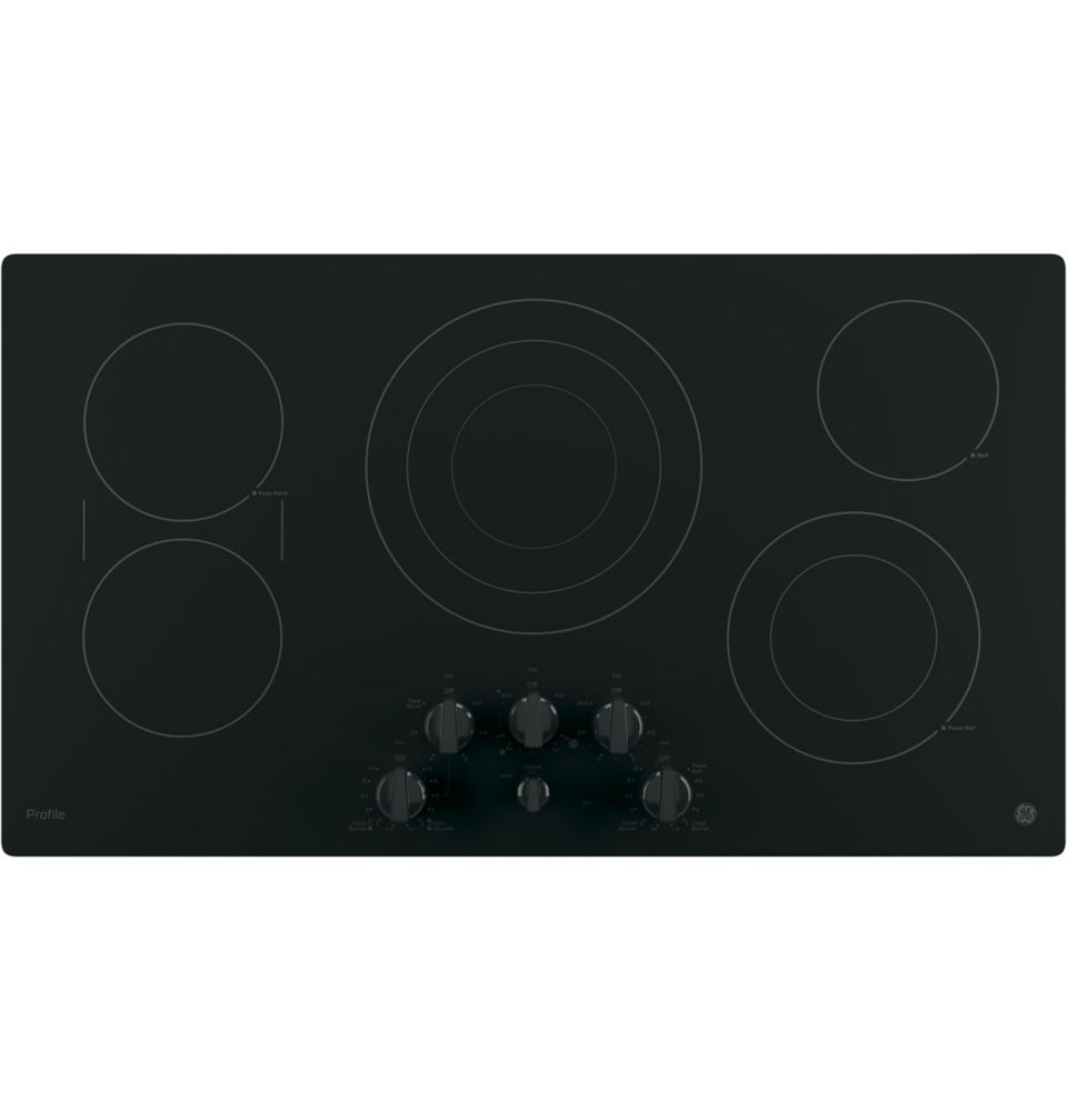 Profile  36- Inch  Electric Cooktop in Black
