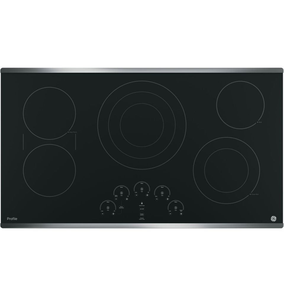 36- Inch  Electric Cooktop in Stainless Steel