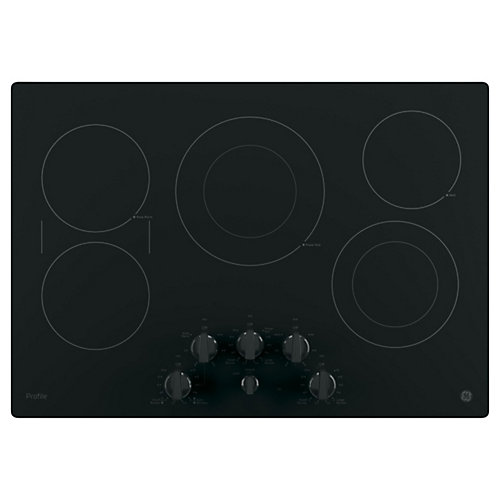 30--inch Electric Cooktop in Black
