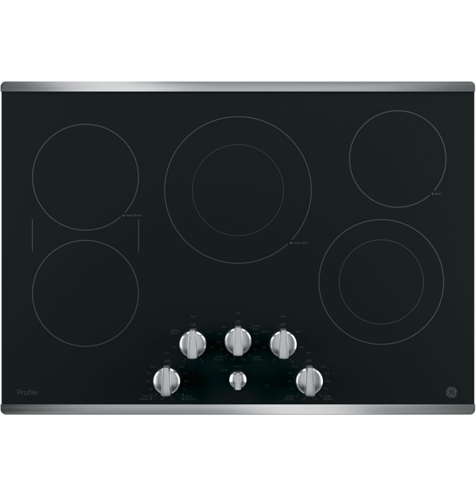 30- Inch  Electric Cooktop in Stainless Steel