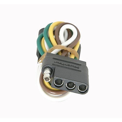 Trailer Connector 4 Pole Flat
