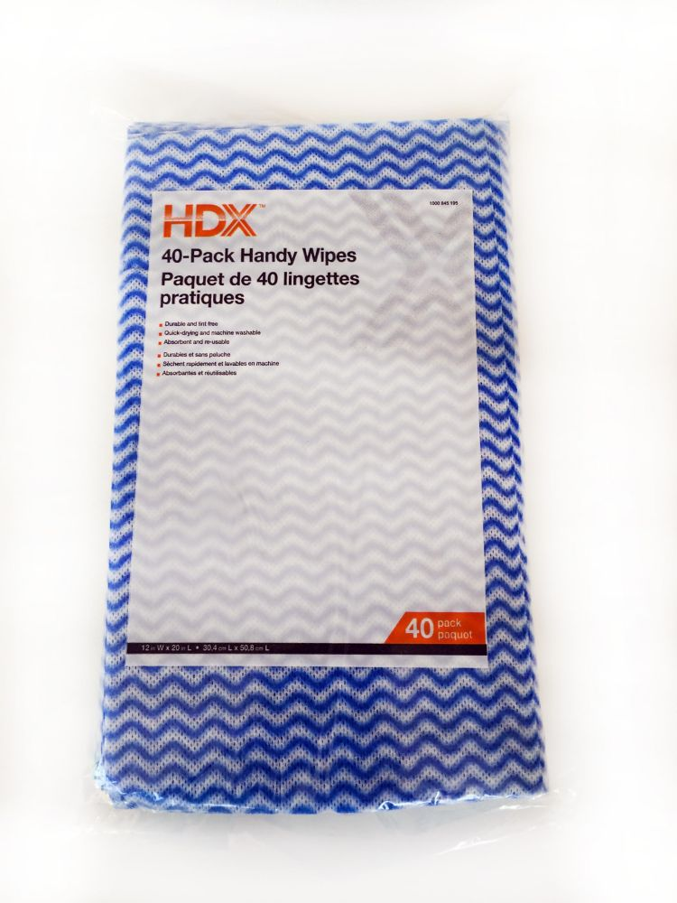HDX 40 Pack Handy Wipes - Quarterly Program