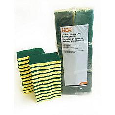 Heavy Duty Scrub Sponges (24-Pack)