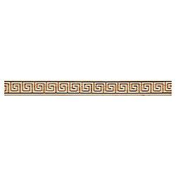 Ornamental Mouldings Maple Greek Key Trim Moulding - 7/32 x 3/4 x 48 Inches