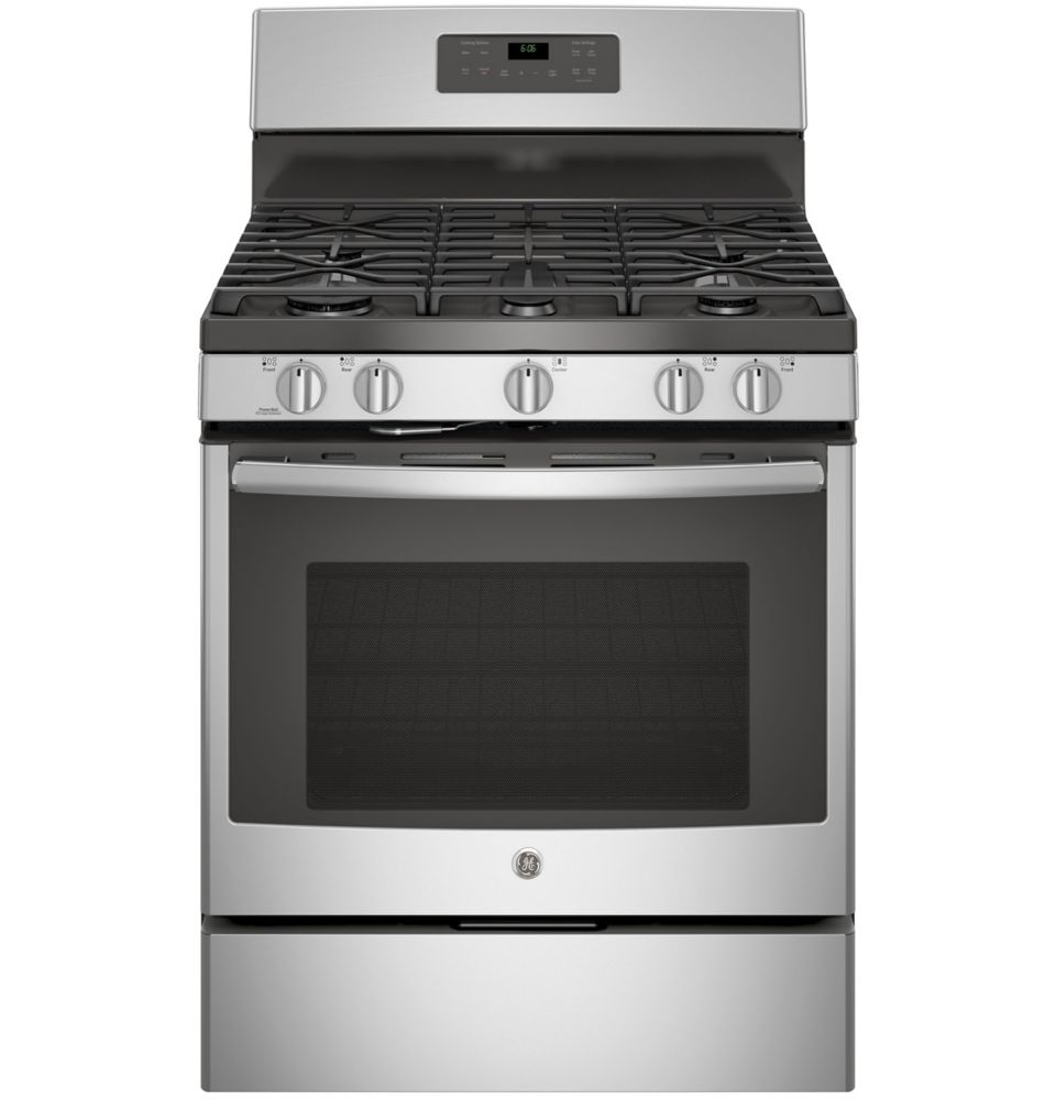 GE 5.0 cu. ft. Freestanding Self-Cleaning Gas Range in Stainless Steel