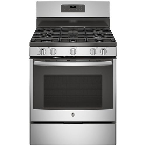 GE 30-inch 5.0 cu. ft. Single Oven Gas Range with Self-Cleaning Oven in Stainless Steel