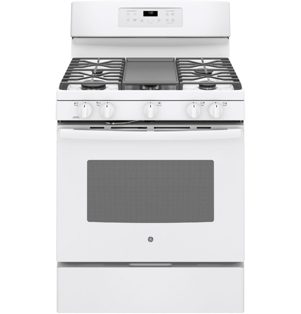 5.0 cu. ft. Free-Standing Convection Gas Range with Steam Clean in White