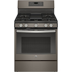30-inch 5.0 cu. ft. Single Oven Gas Range with Self-Cleaning Convection Oven in Slate