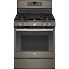 Slate 30 Inch Free Standing Steam Clean Convection Gas Range