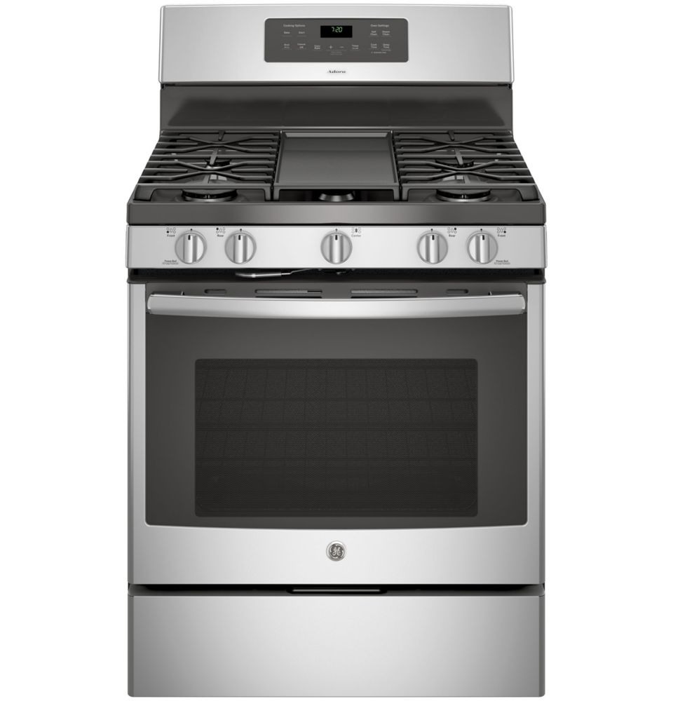 Stainless Steel 30 Inch Free Standing Steam Clean Convection  Gas Range