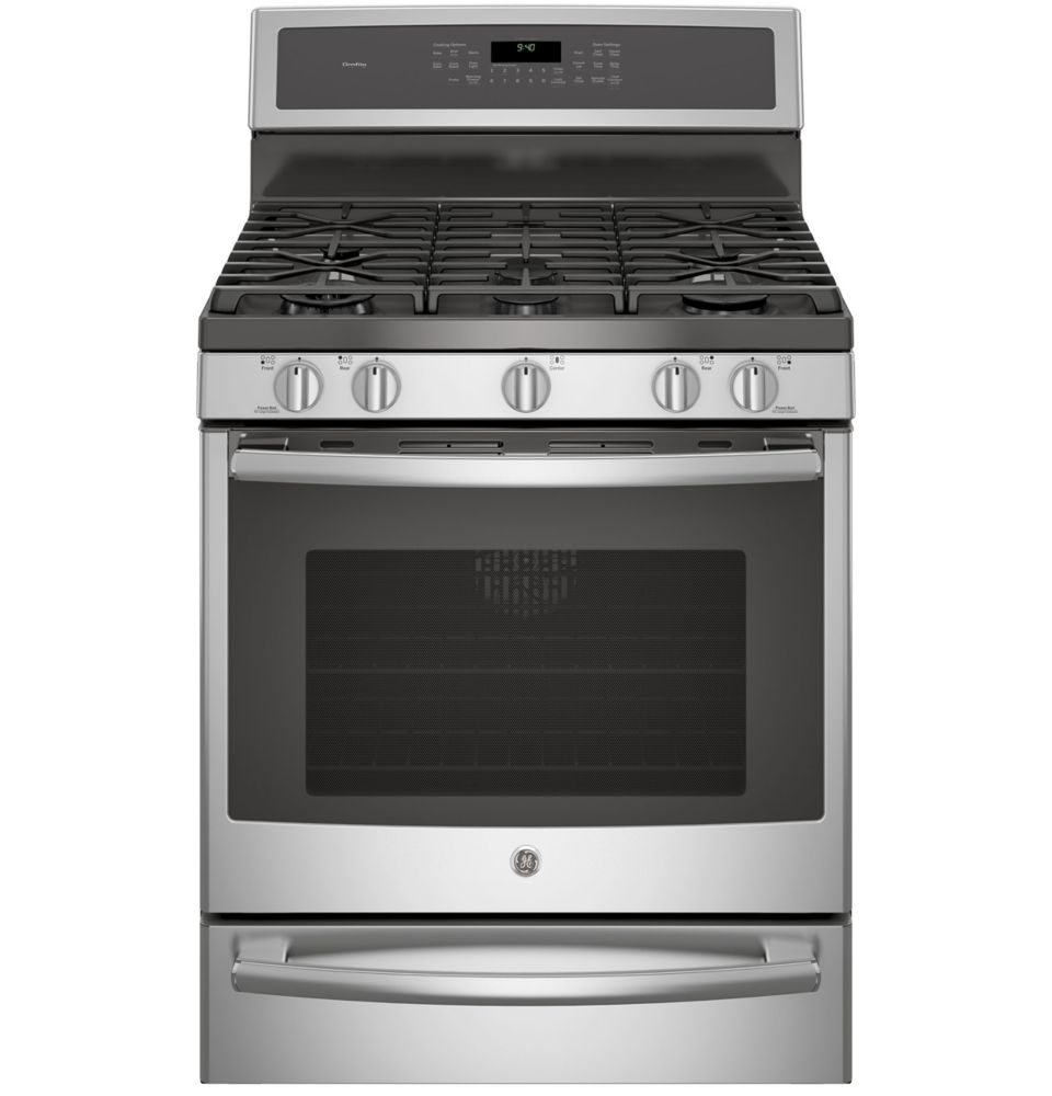 5.6 cu. ft. Free-Standing Convection Gas Range with Warming Drawer in Stainless Steel