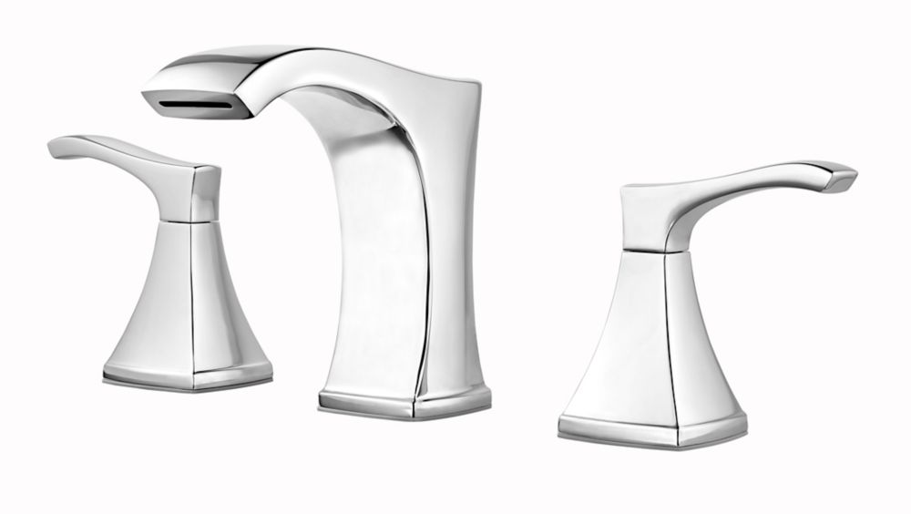 Venturi 8-inch Widespread Bathroom Faucet in Chrome Finish