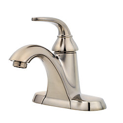 Pfister Pasadena Single Hole 1-Handle Mid Arc Bathroom Faucet in Brushed Nickel with Lever Handle