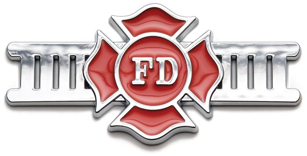 Badgez - Chrome Emblems - Fire Fighter 3406 Canada Discount