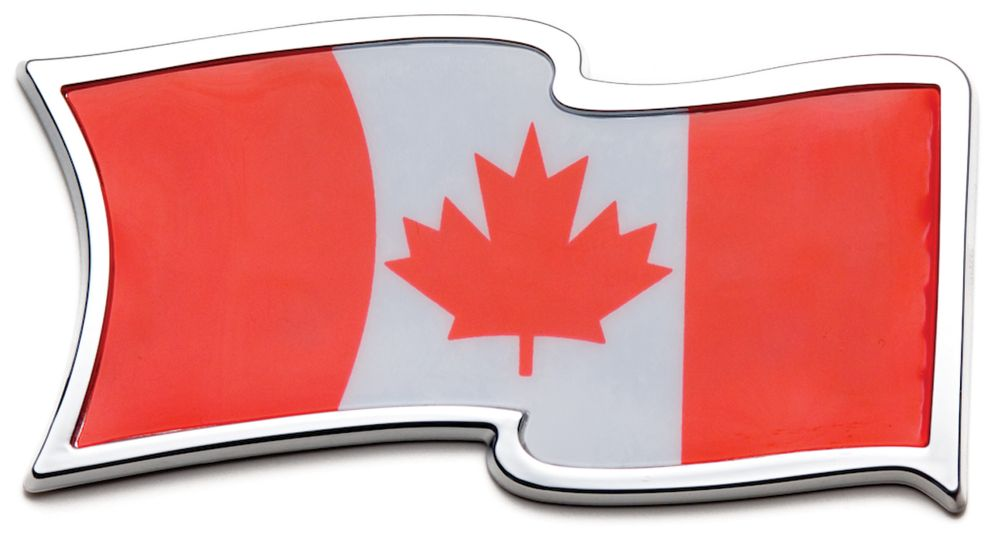 Badgez - Chrome Emblems - Cdn. Waving Flag