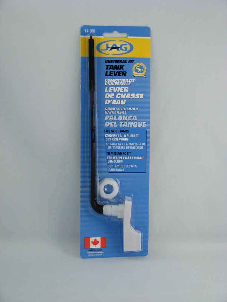 Jag Plumbing Products Contractor Packs:  Toilet Tank Lever, Box of 6, FIT ALL  White