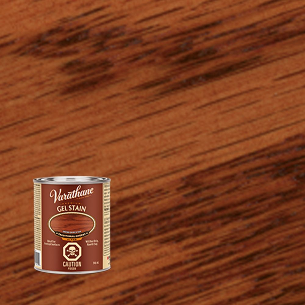 Varathane varathane premium gel stain traditional cherry for Gel stain