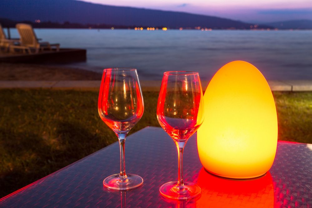 Egg Outdoor Table Light With Wireless LED Light