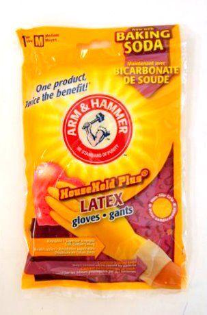 A&H Gants Latex Avec Bicarbonate De Soude-Moyen