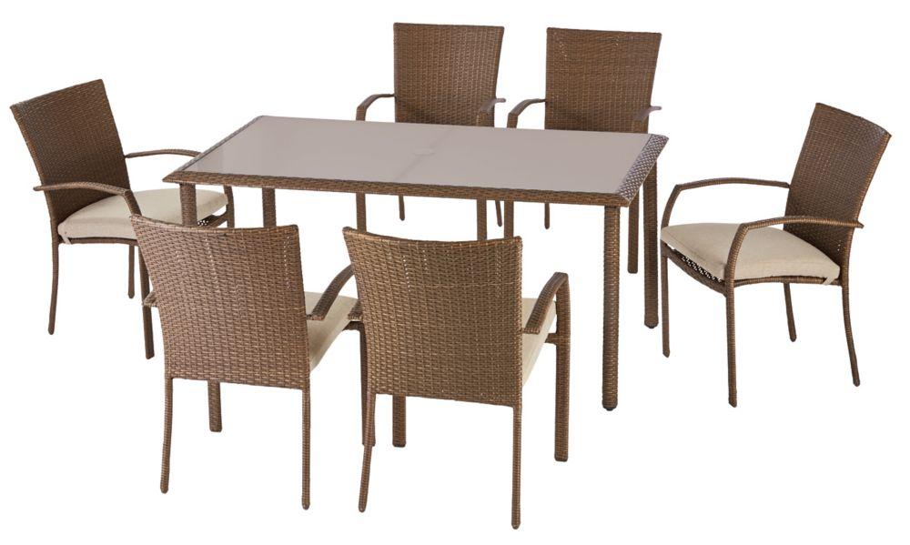 Delaronde 7-Piece Woven Patio Dining Set