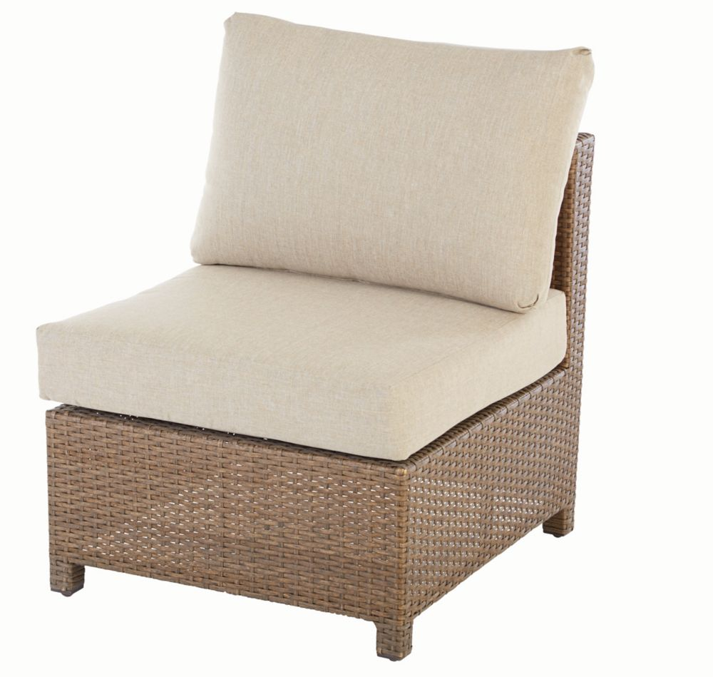 Delaronde Patio Armless Module in Beige