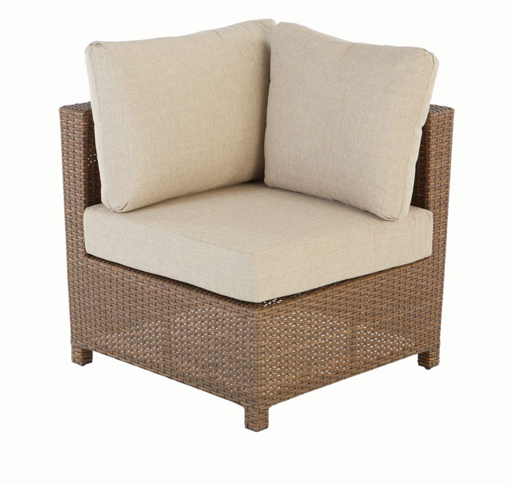 hampton bay fauteuil d 39 angle pour salon de jardin modulable delaronde beige home depot canada. Black Bedroom Furniture Sets. Home Design Ideas