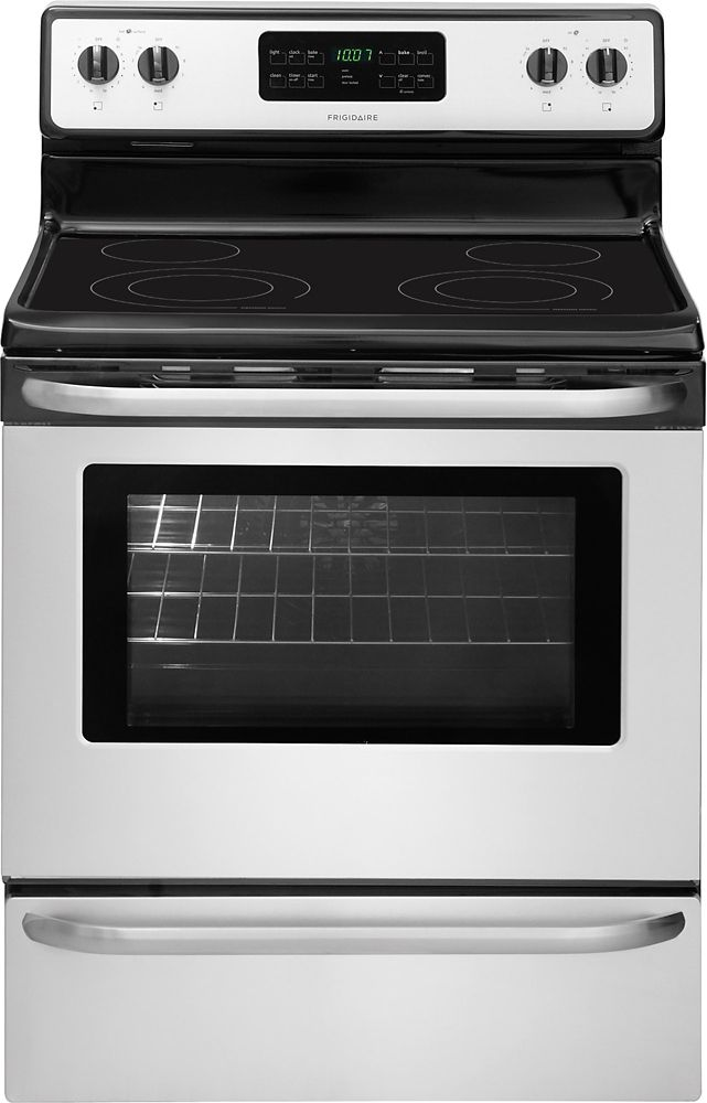 5.4 cu. ft. Free-Standing Electric Range in Stainless Steel