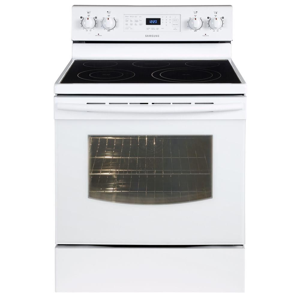 5.9 cu. ft. Free-Standing Electric Range with Steam Clean in White