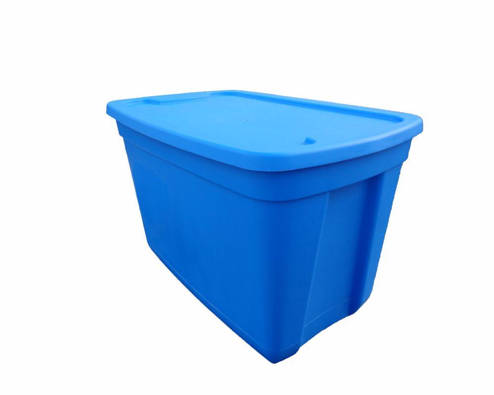 Edge Plastics Storage Tote in Ocean Blue, 76 L
