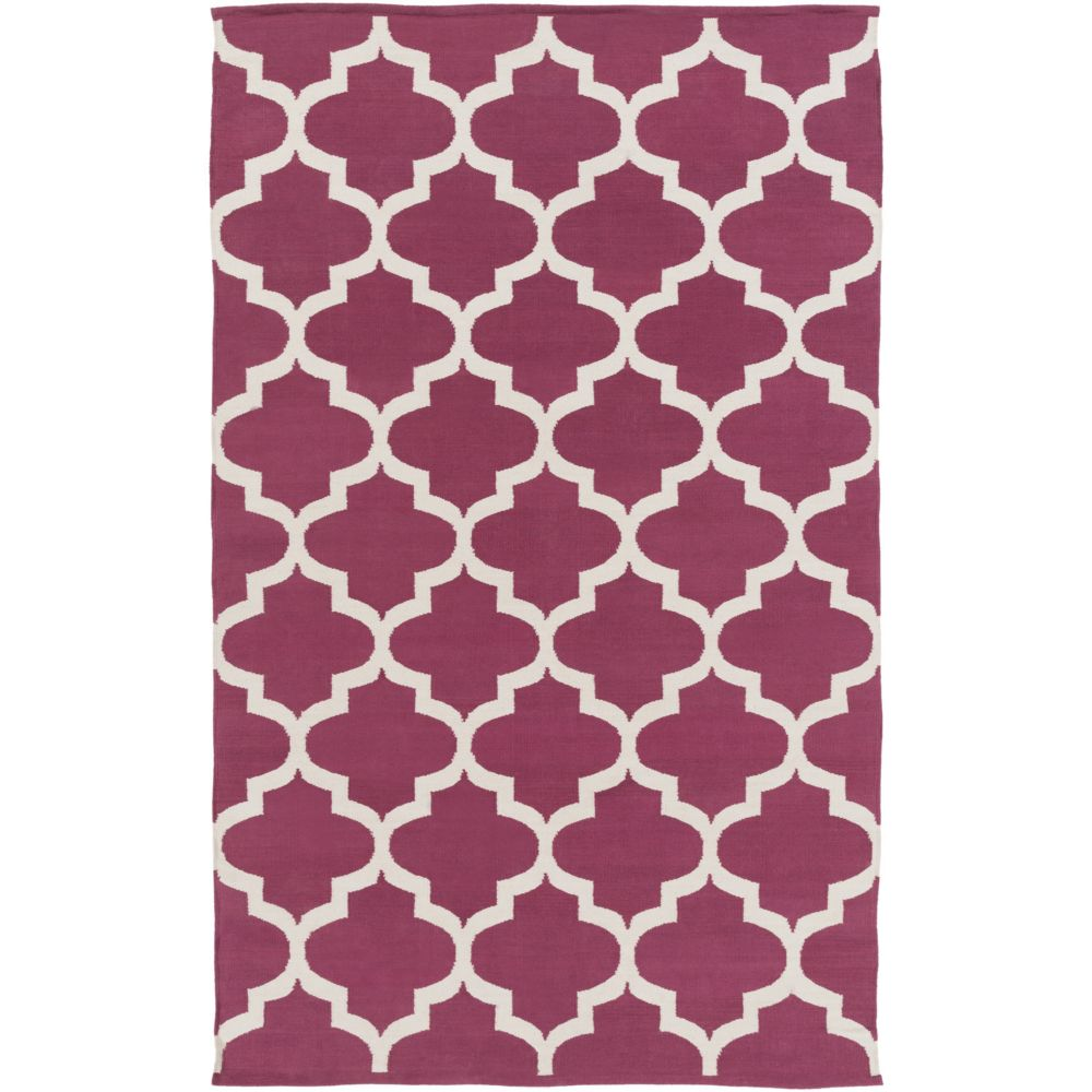 Vogue Everly 9Feet  x 12Feet  Maroon/White