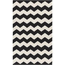 Artistic Weavers Carpette d'intérieur, 5 pi x 8 pi, à poils longs, style contemporain, rectangulaire, noir Vogue Collins