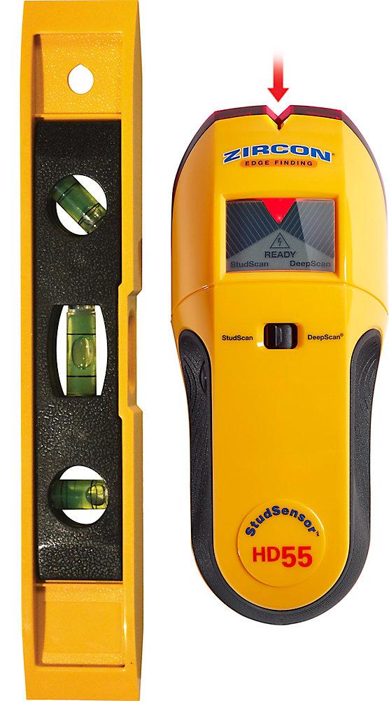 Stud Sensor HD55 Stud Finder with Bonus Level