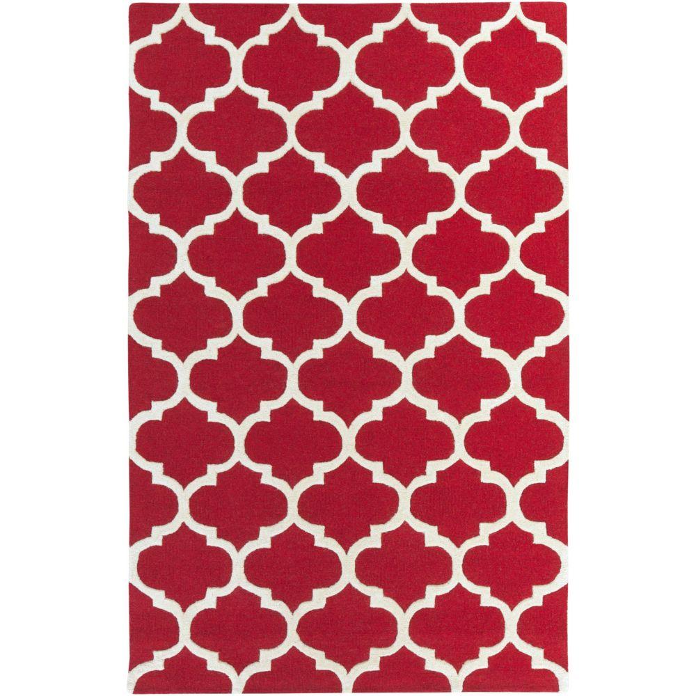 Pollack Stella 5Feet  x 8Feet  Red/White