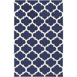 Artistic Weavers Carpette d'intérieur, 6 pi x 9 pi, style contemporain, rectangulaire, bleu Pollack Stella