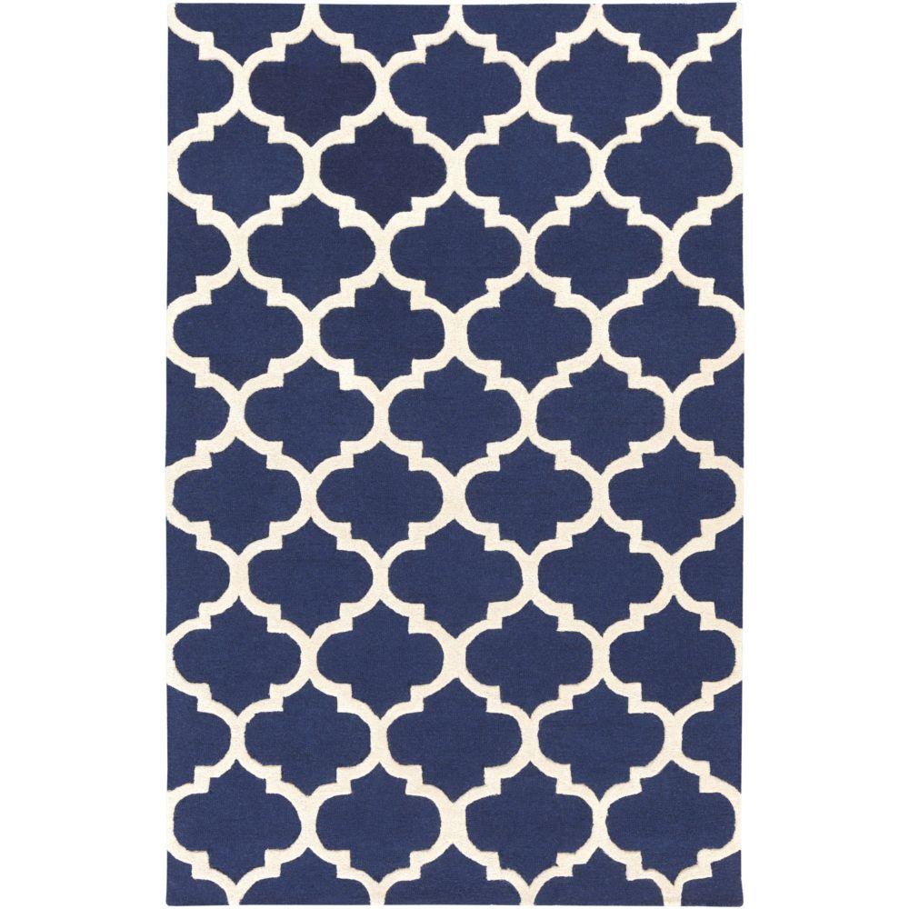 Artistic Weavers Carpette d'intérieur, 8 pi x 11 pi, style contemporain, rectangulaire, bleu Pollack Stella