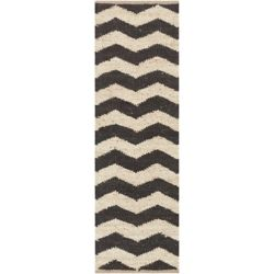 Artistic Weavers Portico Black 2 ft. 3-inch x 8 ft. Indoor Contemporary Runner
