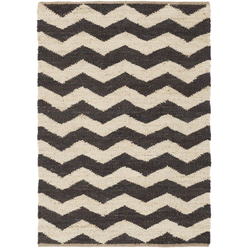 Artistic Weavers Portico Black 5 ft. x 7 ft. 6-inch Indoor Contemporary Rectangular Area Rug