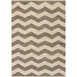 Artistic Weavers Carpette d'intérieur, 5 pi x 7 pi 6 po, style contemporain, rectangulaire, havane Portico